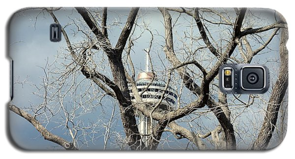Galaxy S5 Case featuring the photograph Tower And Trees by Valentino Visentini