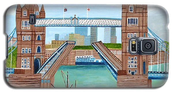 Galaxy S5 Case featuring the painting Tower Bridge London by Magdalena Frohnsdorff