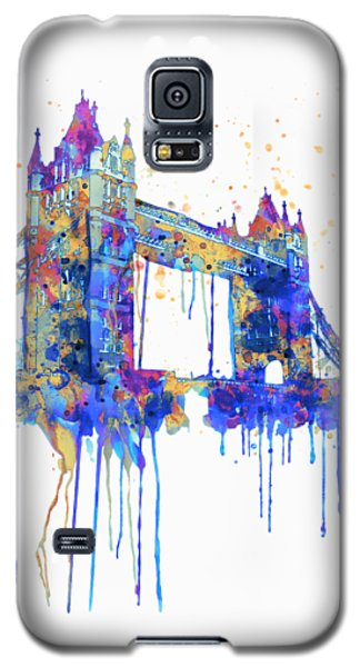 Tower Bridge Watercolor Galaxy S5 Case