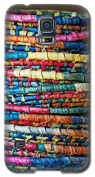 Galaxy S5 Case featuring the photograph Tower Of Baskets by Gwyn Newcombe