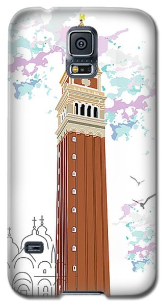Tower Of Campanile In Venice Galaxy S5 Case