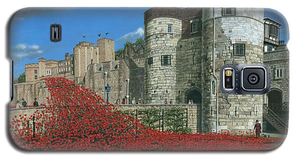 Tower Of London Galaxy S5 Case - Tower Of London Poppies - Blood Swept Lands And Seas Of Red  by Richard Harpum