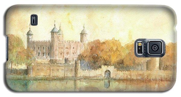 Tower Of London Watercolor Galaxy S5 Case by Juan Bosco