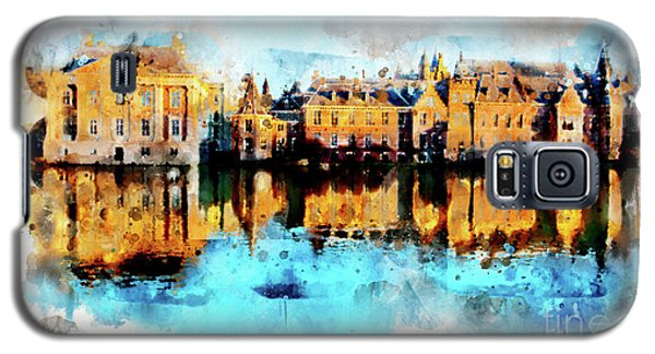 Town Life In Watercolor Style Galaxy S5 Case