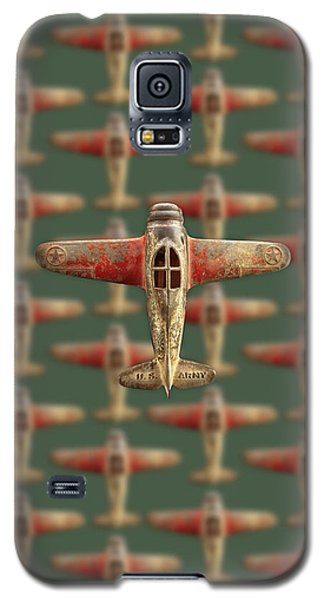 Galaxy S5 Case featuring the photograph Toy Airplane Scrapper Pattern by YoPedro