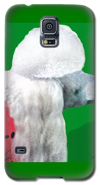 Toy Poodle Louie In His Red Sweater Galaxy S5 Case by Marian Cates