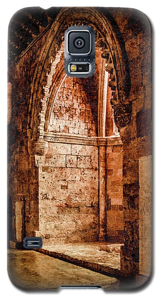 Galaxy S5 Case featuring the photograph Rhodes, Greece - Traced Arch by Mark Forte