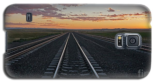 Tracks Into Sunset Galaxy S5 Case