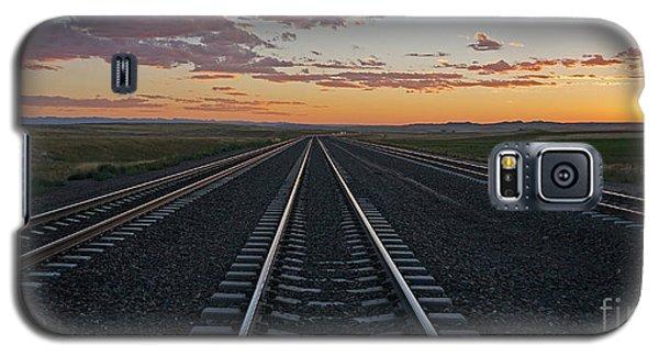 Tracks Into Sunset Galaxy S5 Case
