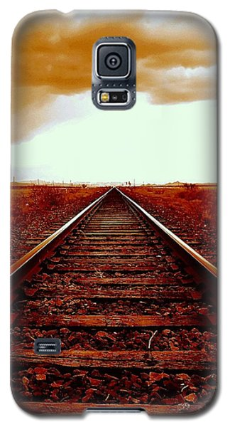Marfa Texas America Southwest Tracks To California Galaxy S5 Case