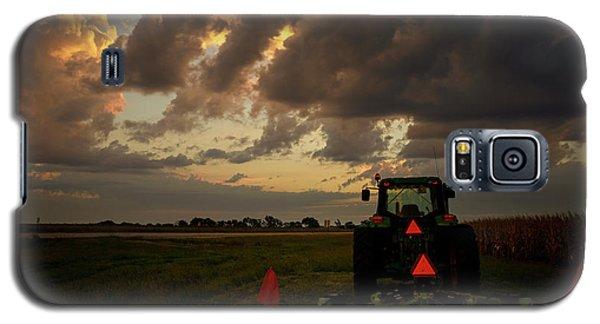 Tractor At Sunrise - Chester Nebraska Galaxy S5 Case
