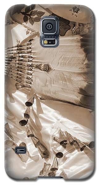 Galaxy S5 Case featuring the photograph Traditional Dancer In Sepia by Heidi Hermes