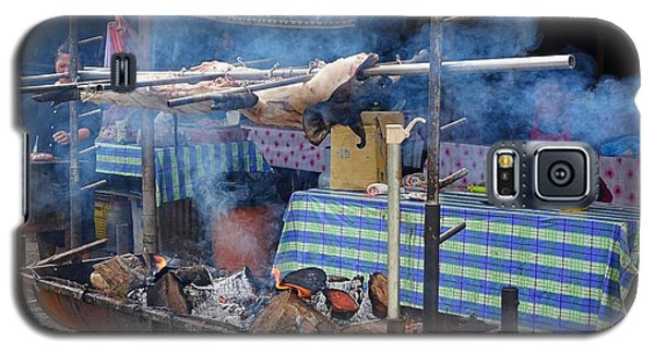 Galaxy S5 Case featuring the photograph Traditional Market In Taiwan Native Village by Yali Shi
