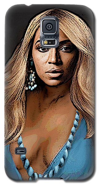 Traditional Modern Original Painting Beyonce In Turquoise Galaxy S5 Case