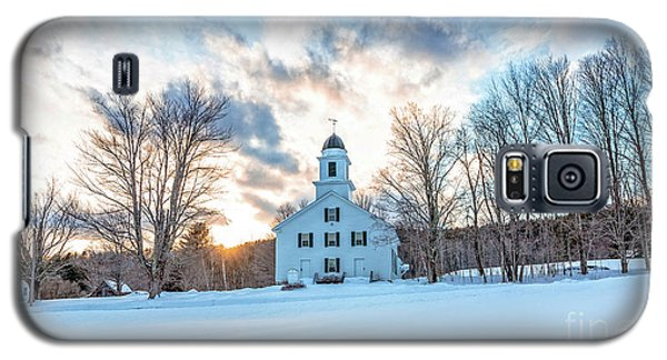 Galaxy S5 Case featuring the photograph Traditional New England White Church Etna New Hampshire by Edward Fielding
