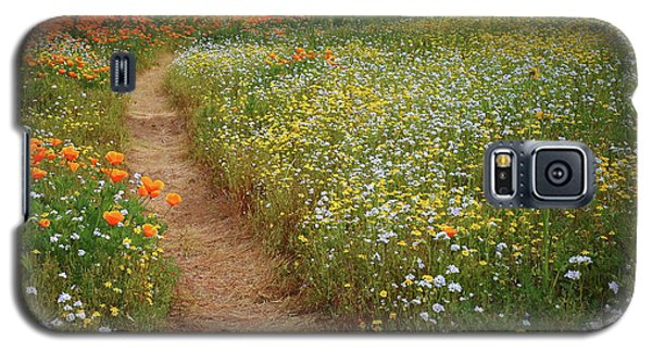 Galaxy S5 Case featuring the photograph Trail Of Wildflowers At Diamond Lake In California by Jetson Nguyen