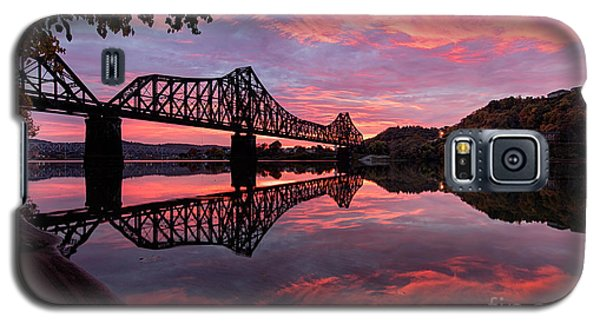 Train Bridge At Sunrise  Galaxy S5 Case