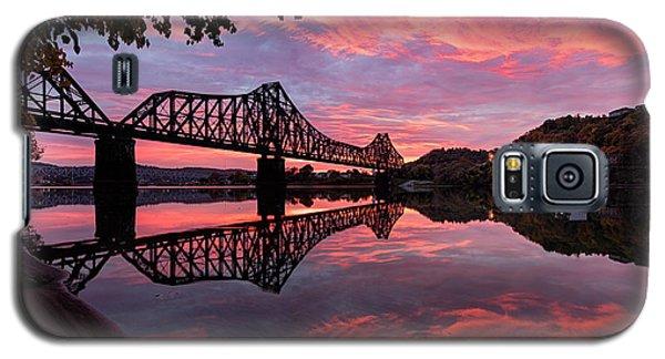 Train Bridge At Sunrise  Galaxy S5 Case