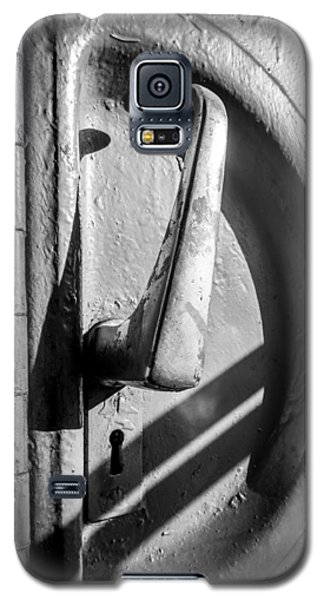 Galaxy S5 Case featuring the photograph Train Door Handle by John Williams