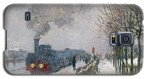 Train Galaxy S5 Case - Train In The Snow Or The Locomotive by Claude Monet