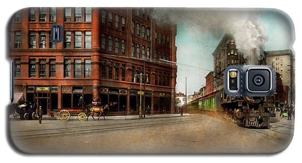 Galaxy S5 Case featuring the photograph Train - Respect The Train 1905 by Mike Savad