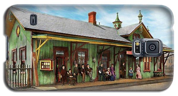 Train Station - Garrison Train Station 1880 Galaxy S5 Case by Mike Savad