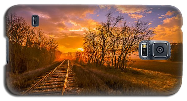 Train Track Sunrise Galaxy S5 Case