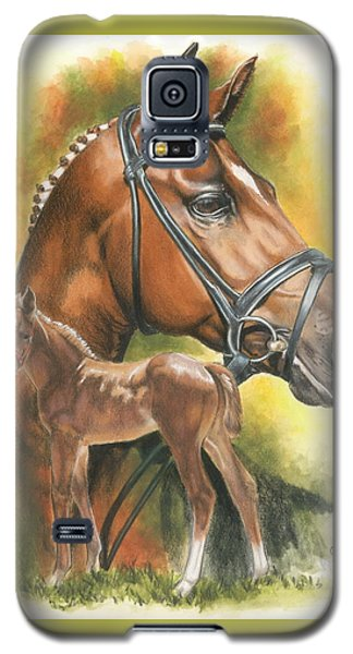Galaxy S5 Case featuring the mixed media Trakehner by Barbara Keith