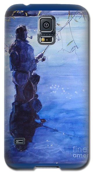 Watercolor Tranquil Fishing Galaxy S5 Case