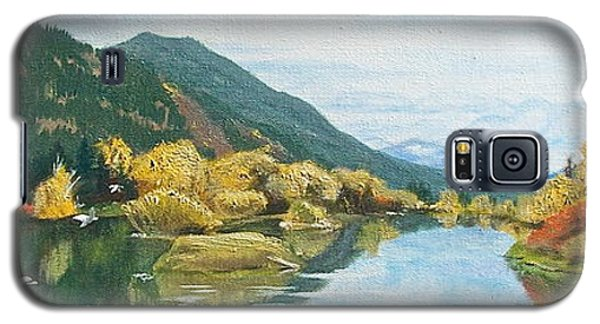 Galaxy S5 Case featuring the painting Tranquil Waters by Bonnie Heather