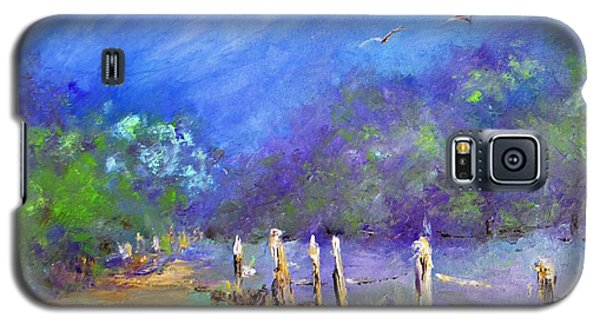Galaxy S5 Case featuring the painting Tranquility by AmaS Art
