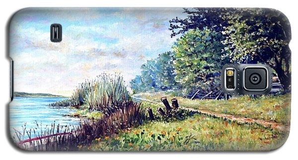 Galaxy S5 Case featuring the painting Tranquility by Heidi Kriel