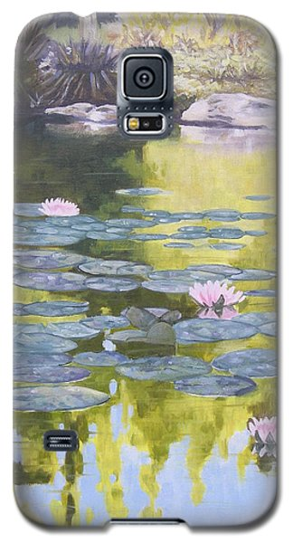 Galaxy S5 Case featuring the painting Tranquility IIi Furman University by Robert Decker