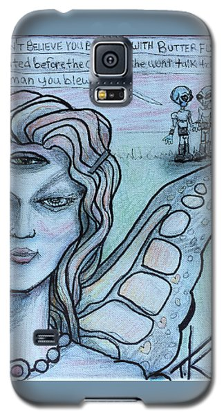 Galaxy S5 Case featuring the drawing Transformation by Similar Alien