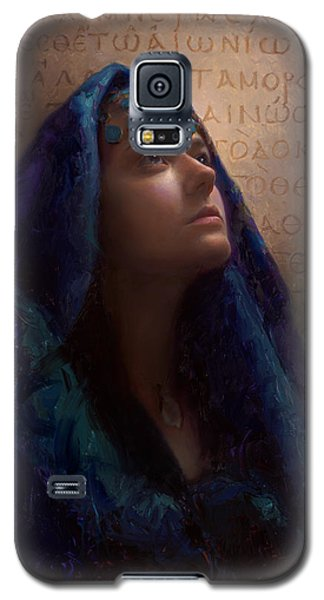 Transformation - Woman With Romans 12 2 Written In Original Greek  Galaxy S5 Case