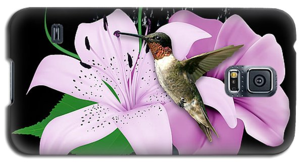 Galaxy S5 Case featuring the mixed media Transport Hummingbird by Marvin Blaine