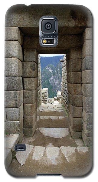 Galaxy S5 Case featuring the photograph Trapezoidal Door, Machu Picchu, Peru by Aidan Moran