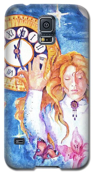 Galaxy S5 Case featuring the painting Trapped In Time And Space by P Maure Bausch