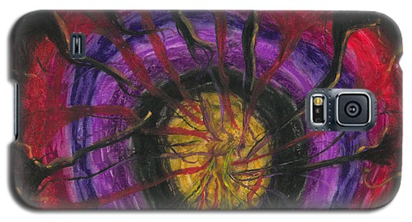 Galaxy S5 Case featuring the painting Trapped Within  by Ania M Milo