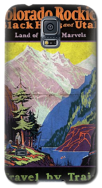 Travel By Train To Colorado Rockies - Vintage Poster Folded Galaxy S5 Case