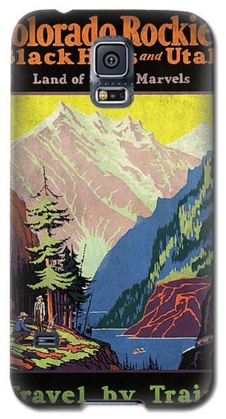 Travel By Train To Colorado Rockies - Vintage Poster Vintagelized Galaxy S5 Case