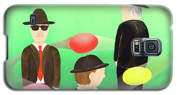 Galaxy S5 Case featuring the painting Traveling In The Right Business Circles by Thomas Blood