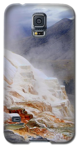 Galaxy S5 Case featuring the photograph Travertine Terracce by Irina Hays