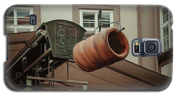 Galaxy S5 Case featuring the photograph Trdelnik. Prague Architecture by Jenny Rainbow