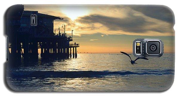 Seagull Pier Sunrise Seascape C1 Galaxy S5 Case
