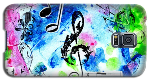Galaxy S5 Case featuring the mixed media Treble Mp by Genevieve Esson