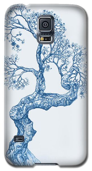 Tree 14 Blue 1 Galaxy S5 Case