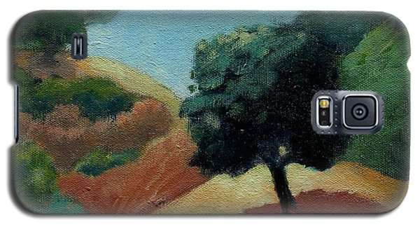 Galaxy S5 Case featuring the painting Tree Alone by Gary Coleman