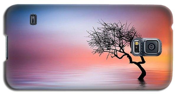 Tree At Lake Galaxy S5 Case