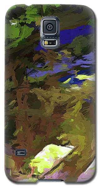 Tree Avenue Lime Green Cobalt Blue Galaxy S5 Case